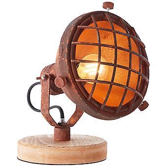 LUZ interior de color óxido de la lámpara de mesa BRILLIANT Mila, lámparas de mesa, -decorativas ? 1x D45, E14, 25W, adecuado para lámparas de caída