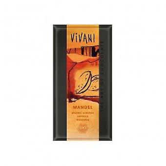 Vivani - Organic Milk Chocolate With Whole Almonds 100gx10
