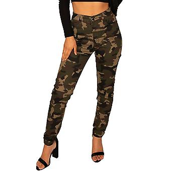 Donkere Camouflage Slim Jeans
