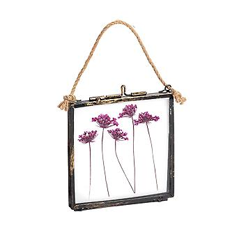 Nicola Spring Hanging Glass Vintage Photo Frame With Rope - 4x4 Photos
