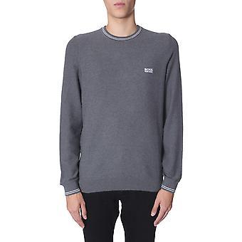 Boss 5041365910219720031 Hombres's suéter de algodón gris