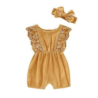 Baby Rompers Newborn Clothes-jumpsuit With Headband