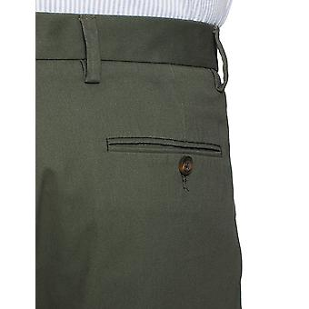 Essentials Heren's Classic-Fit Rimpelbestendige Geplooide Chino Pant, Olive, 38W x 34L