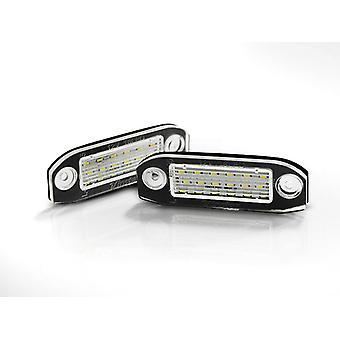 Kentekenverlichting LED VOLVO S40 / V50 / S60 / V70 / S80 / XC60 / XC70 / XC90 LED
