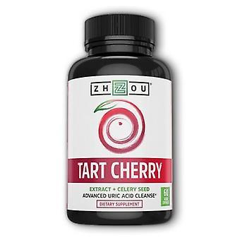 Zhou Nutrition Tart Cherry Extract + Celery Seed, 60 Veg Caps