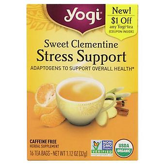 Yogi Sweet Clementine Stress Support, 16 Count