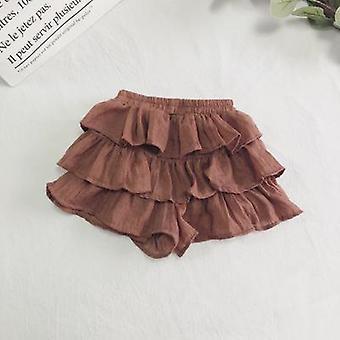 Short Cotton Skirt With Elastic Waist