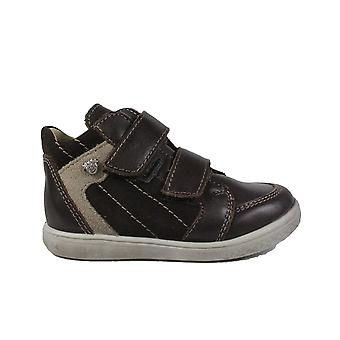 Ricosta Chris 2530200-282 Brown Nubuck Leather Boys Rip Tape Ankle Boots