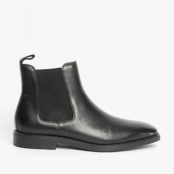 Steptronic Mayfair Mens Leather Wide Fit Chelsea Boots Black