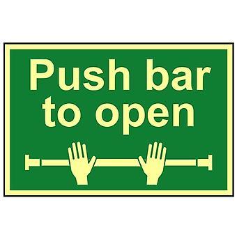 Scanare Push Bar Pentru a deschide - Fotoluminiscent 300 x 200mm SCA1584