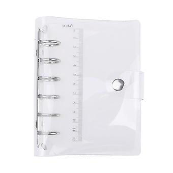 Pvc Notebook Binder Med 6 hål (a5/a6/a7 )