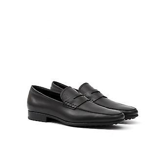 Lederen loafers