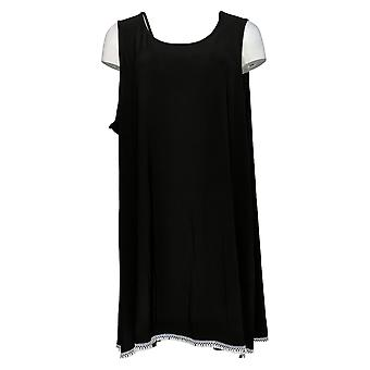 Women with Control Women's Plus Top Como Jersey Tunic Black A353138