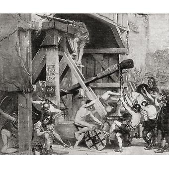 The Catapult As A Great Engine Of War In Ancient Rome From The Book Harmsworth History Of The World Published 1908 PosterPrint