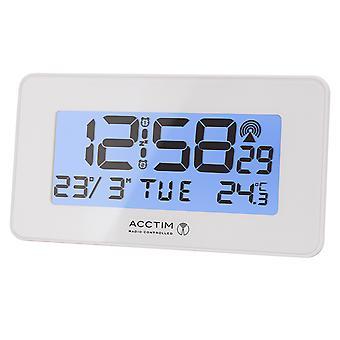 Acctim Murren Radio Controlled LCD Alarm Clock White 71882