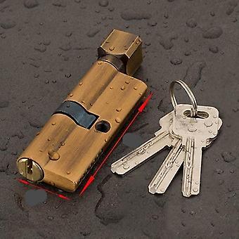 Messing Ab Tür Zylinder Schloss voreingenommen mit 3 Schlüssel Anti-Diebstahl-Eingang für zu Hause
