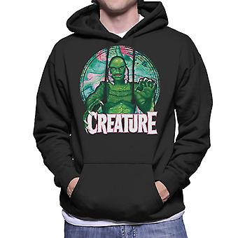 Creature From The Black Lagoon Mix Circle Men's Hooded Sweatshirt