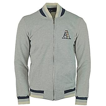 Aquascutum A Logo Zip Sweater Grey Jacket