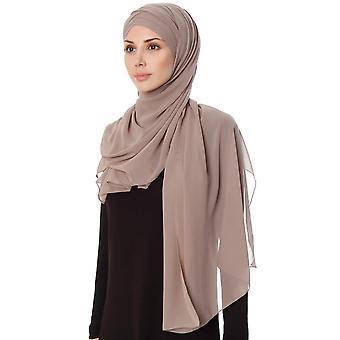 Mehtap - Roxo Prático Uma Peça Chiffon Hijab