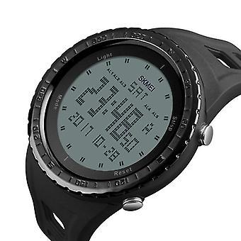 SKMEI 1246 إنذار في الهواء الطلق كرونوغراف مزدوجة الوقت السباحة الرجال الرياضة الرقمية