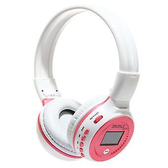 Zealot B570 Wireless Headphones with LED Display and FM Radio - Bluetooth 5.0 Wireless Headphones Stereo Studio Pink