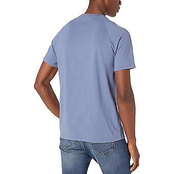 Goodthreads Men's Short-Sleeve Sueded Jersey Henley, weiß, Mittel