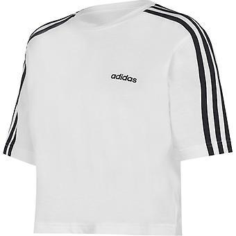adidas 3S Crop T Shirt Dames
