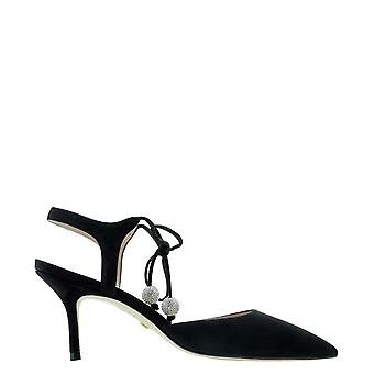 Stuart Weitzman Orion75sueblk Women's Black Suede Sandals