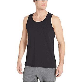 Essentials Men's Performance Baumwolle Tank Top Shirt, schwarz, groß