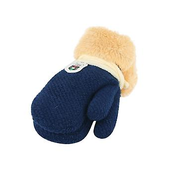 Children Keep Warm Knitting Thickening And Furring Warm Stretch Wool Full