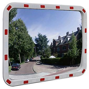 مرآة حركة المرور محدبة مستطيلة 60 × 80 سم مع العاكسات