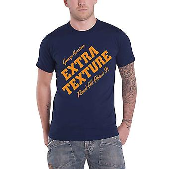 George Harrison T Shirt Blue Extra Texture Read All About It Official Mens