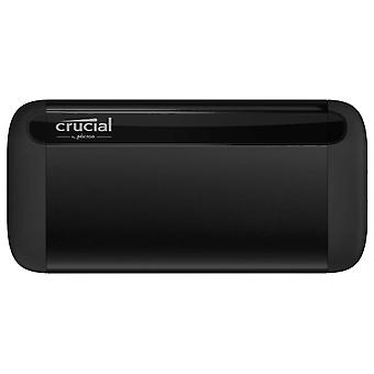 Crucial ct500x8ssd9 500 gb x8 portable ssd, up to 1050 mb/s, usb 3.2, usb-c, usb-a, black