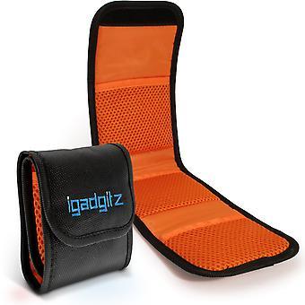 Igadgitz 3 vreckový objektív filtračné vrecko taška puzdro na peňaženku pre slr & dslr kamery