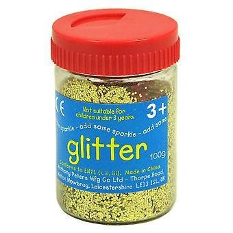 Guld kunst og håndværk glitter - 100g badekar