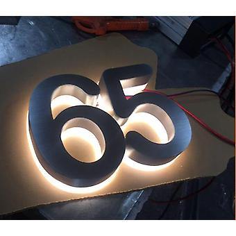 Durable Aluminum Halo-lit Gate House Numbers For Ourtdoor