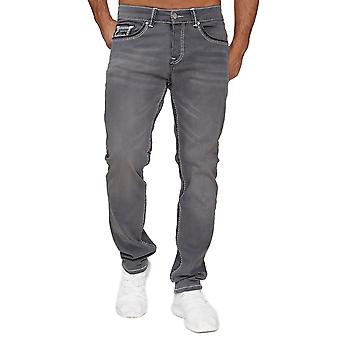 Homme AMICA Denim Jeans Thick Large Double Coutures Pants 5-Pocket Regular Design