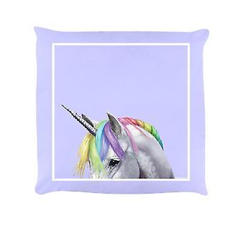 Inquisitive Creatures Rainbow Unicorn Filled Cushion