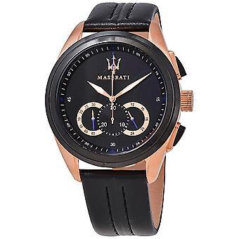 Maserati R8871612025 Traguardo Chronograph Black Dial Men's Watch