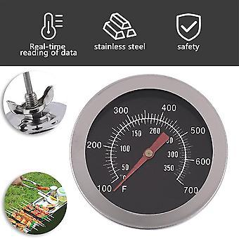 Paslanmaz Çelik Barbekü Tiryaki Çukur Izgara Bimetalik Termometre