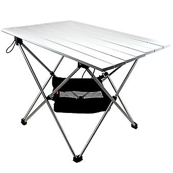 Aluminium Legering Folding Camp Table Roll-top Letvægts Bærbar Stabil