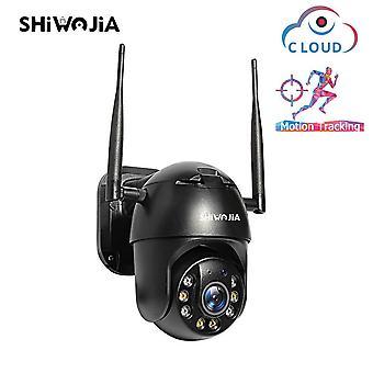 SHIWOJIA Dual Dome Camera Wifi Täysvärinen Night Vision -älymonitori Kahden tien ääni intercom pan-kallistus