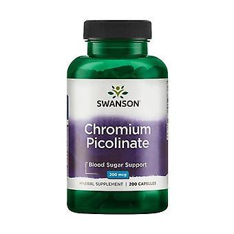 Chromium Picolinate, 200mcg 200 capsules