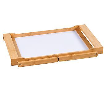 Fsc® bambu elegante mesa de cama dobrável com bandeja