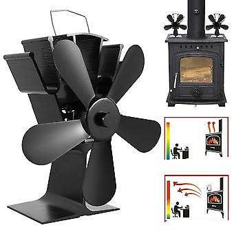 5 Blade Heat Powered, Fireplace Fan