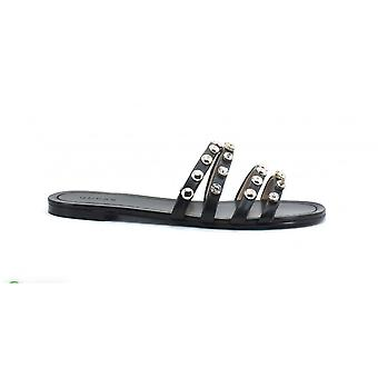 Shoes Guess Sandalo Cevana Black Faux leather With Strass Ds21gu24 Fl6cevele19