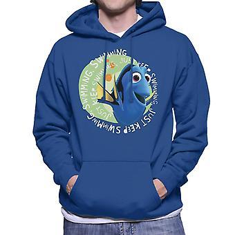 Pixar Finding Dory Just Keep Swimming Men's Sweatshirt met capuchon