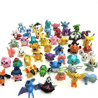 144pcs Pokemon Go Figure Jouet Pikachu Cute Anime Doll Modèle