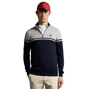 Lyle & Scott Mens 2021 Croft Water Resistant 1/4 Zip Golf Pullover Sweater