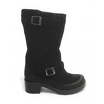 Women's Shoes Elite Boot Boot Bottom Carrarmato Black Suede D21el02